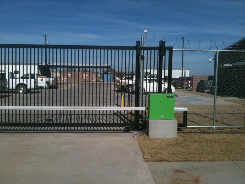 Gate opener installations electric fence